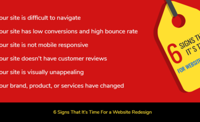 6 Signs that it's Time for a Website Redesign